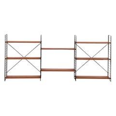 Teak Tomado Three Section Standing Book Shelf