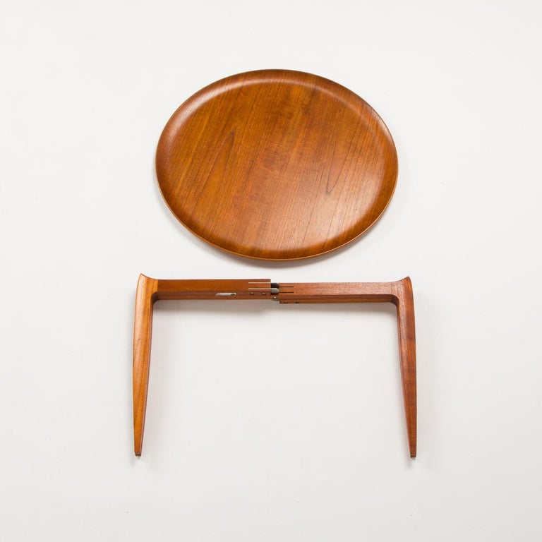 Mid-Century Modern Teak Tray Table by H Engholm and Svend Aage Willumsen for Fritz Hansen, Denmark, For Sale