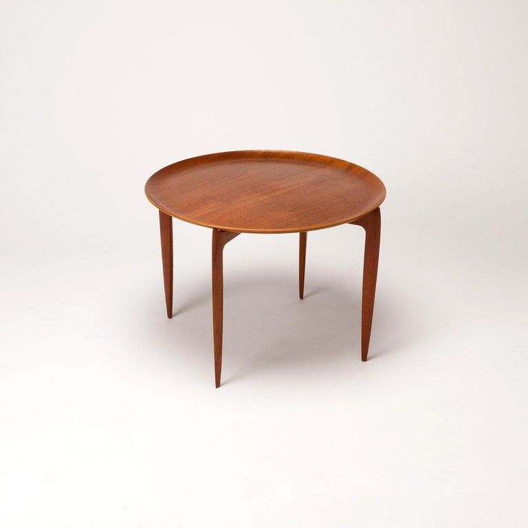 Danish Teak Tray Table by H Engholm and Svend Aage Willumsen for Fritz Hansen, Denmark, For Sale
