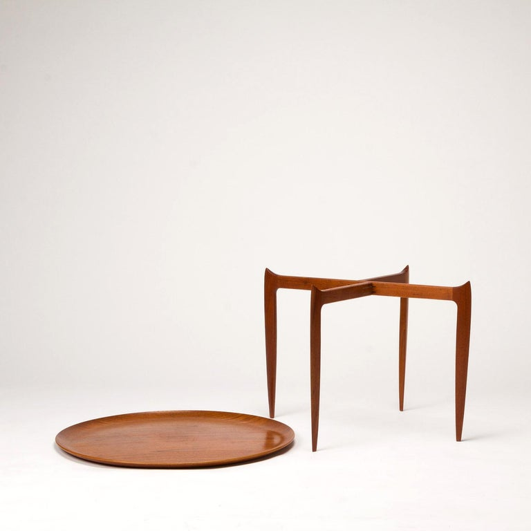 Teak Tray Table by H Engholm and Svend Aage Willumsen for Fritz Hansen, Denmark, In Good Condition For Sale In Berkhamsted, GB