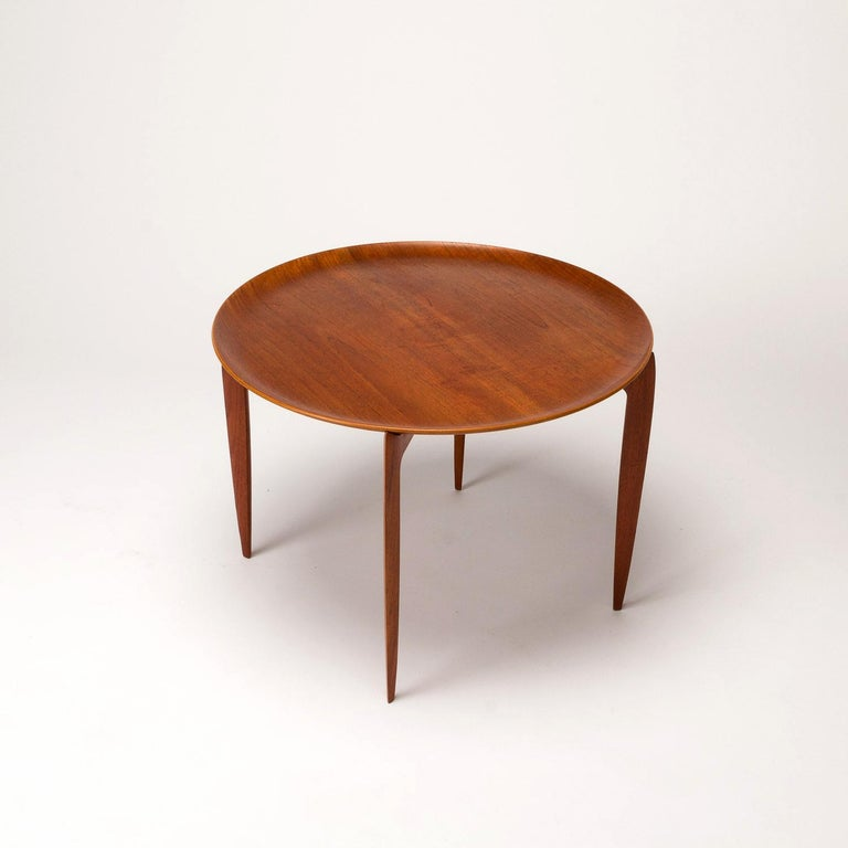 Mid-20th Century Teak Tray Table by H Engholm and Svend Aage Willumsen for Fritz Hansen, Denmark, For Sale