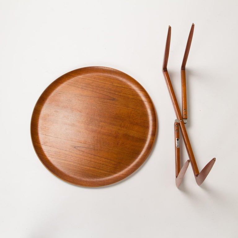 Teak Tray Table by H Engholm and Svend Aage Willumsen for Fritz Hansen, Denmark, For Sale 1