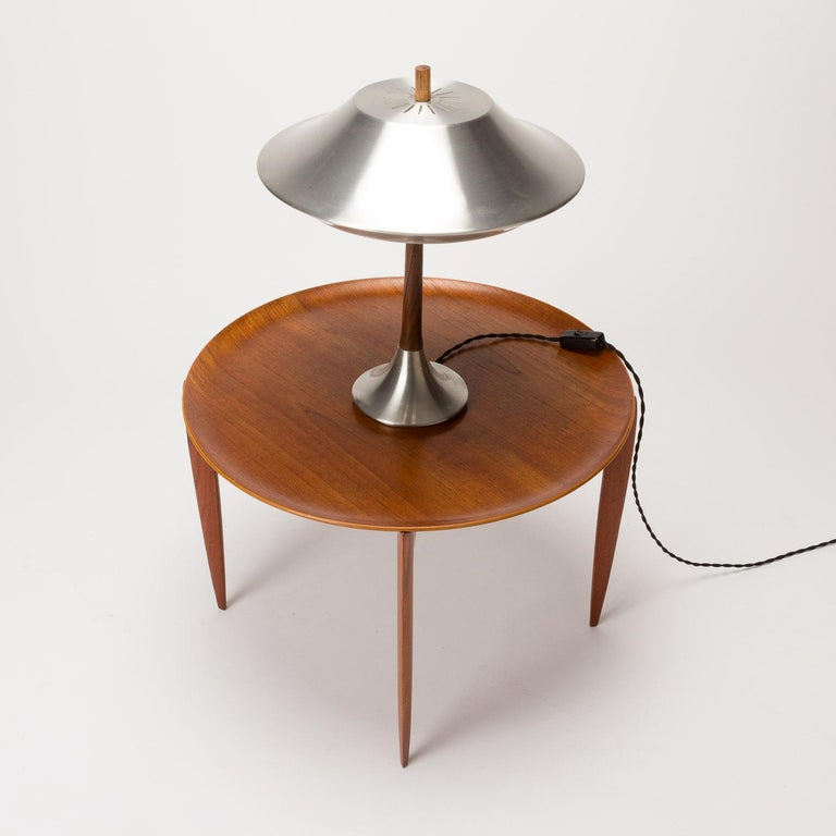 Teak Tray Table by H Engholm and Svend Aage Willumsen for Fritz Hansen, Denmark, For Sale 2
