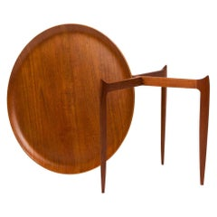 Teak Tray Table by H Engholm and Svend Aage Willumsen for Fritz Hansen, Denmark,