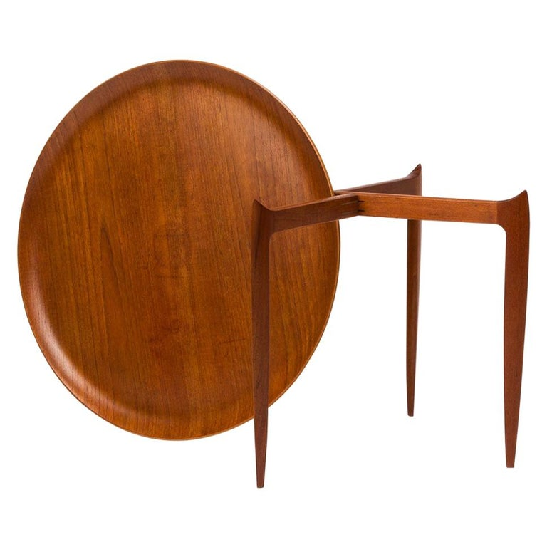 Teak Tray Table by H Engholm and Svend Aage Willumsen for Fritz Hansen, Denmark, For Sale