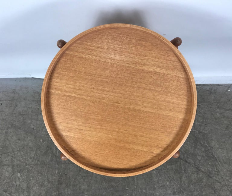 Teak Tray Table Made in Denmark Attributed to Hans Bolling, Torben Orskov For Sale 4