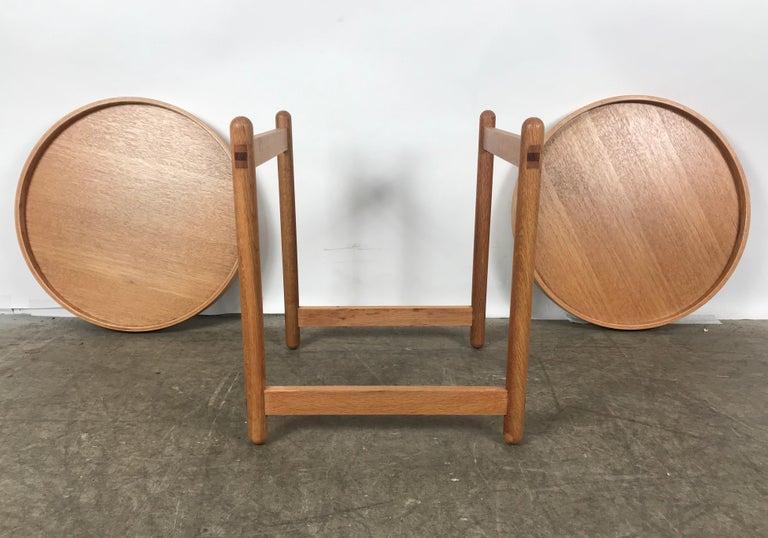 Scandinavian Modern Teak Tray Table Made in Denmark Attributed to Hans Bolling, Torben Orskov For Sale