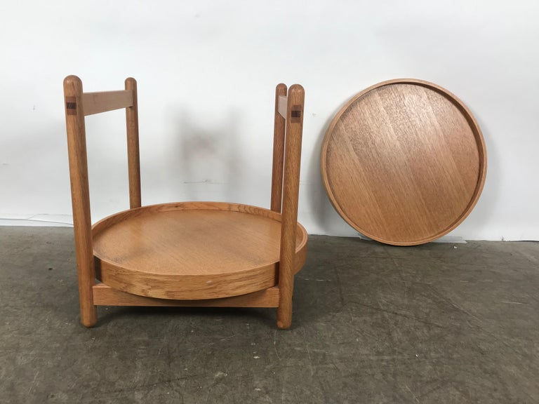 Teak Tray Table Made in Denmark Attributed to Hans Bolling, Torben Orskov In Good Condition For Sale In Buffalo, NY