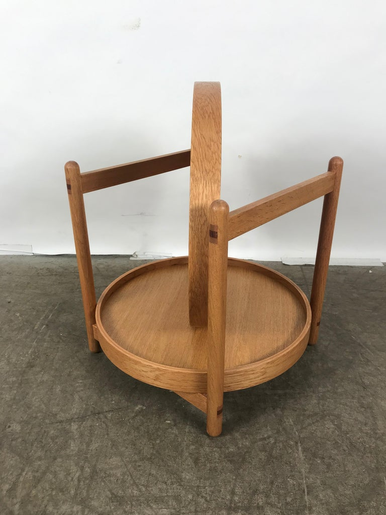 Teak Tray Table Made in Denmark Attributed to Hans Bolling, Torben Orskov For Sale 1