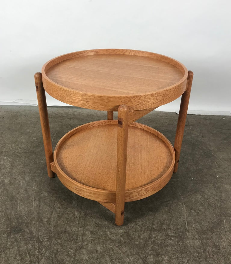 Teak Tray Table Made in Denmark Attributed to Hans Bolling, Torben Orskov For Sale 2
