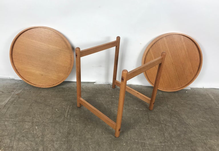 Teak Tray Table Made in Denmark Attributed to Hans Bolling, Torben Orskov For Sale 3