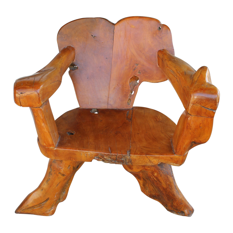 Teak Tree Root Studio Club Chair, #1 of 2