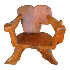 Teak Tree Root Studio Club Chair