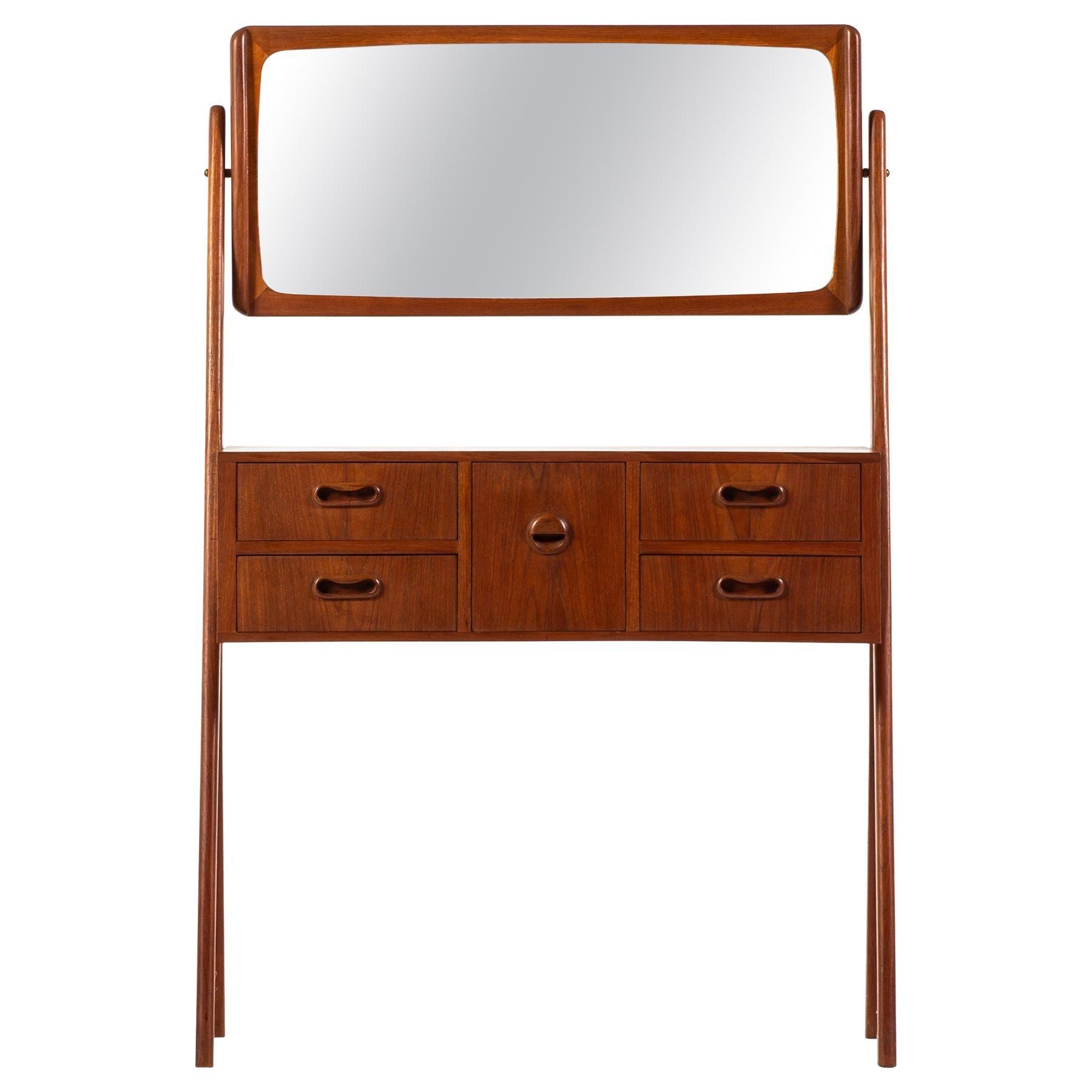 Teak Vanity / Dressing Table Produced in Denmark