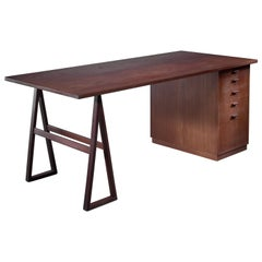 Teak Veneered Desk, Sweden