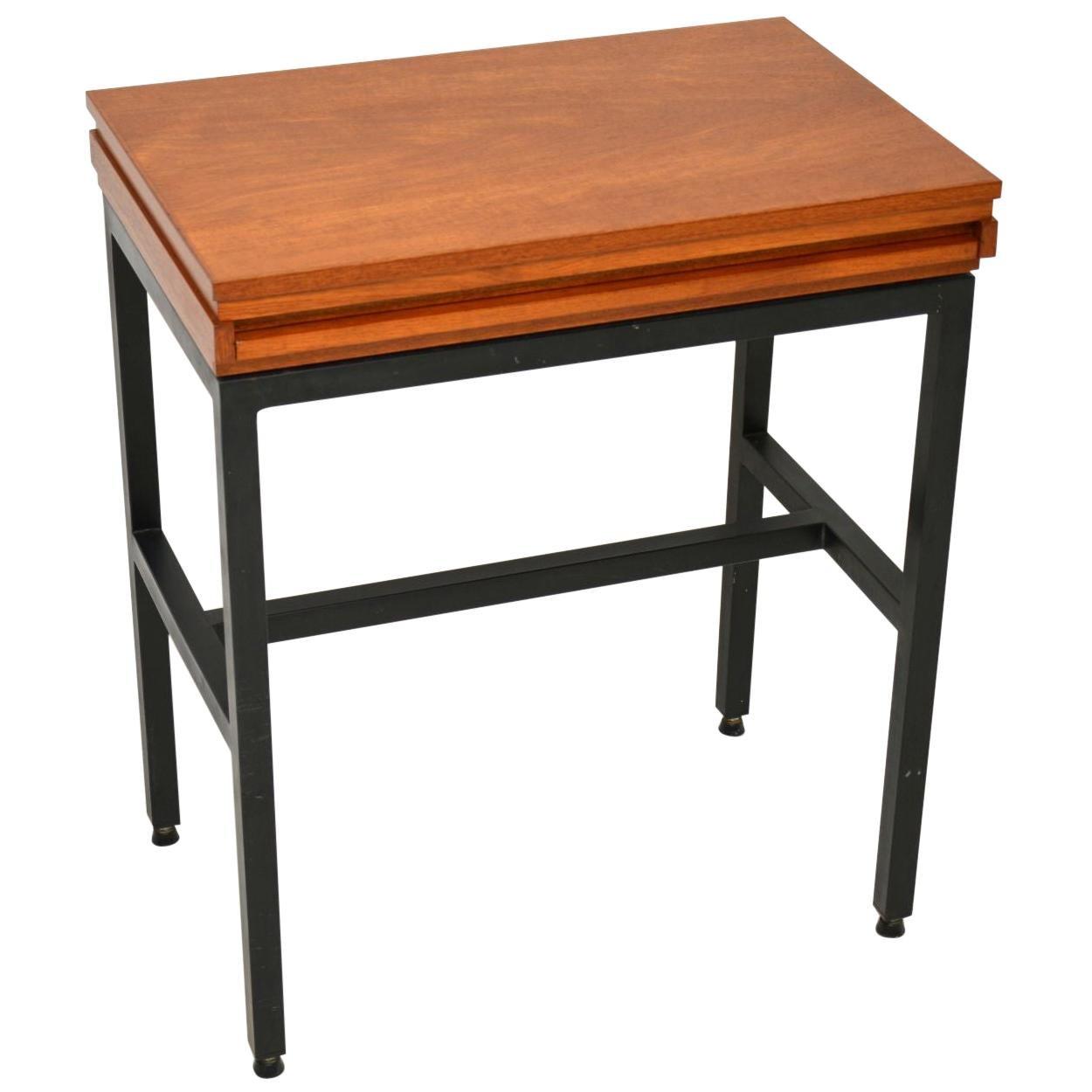 Teak Vintage Side Table / Writing Desk