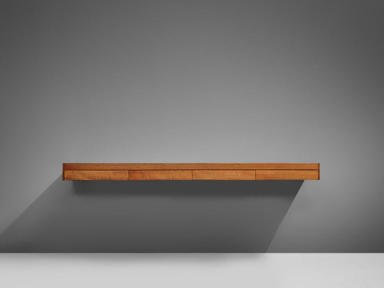 British Teak Wall Console Robert Heritage For Sale