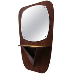 Teak Wall Mirror - 1960s