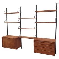 Teak Wall Shelves by Poul Cadovius for Royal System, Denmark, 1950s