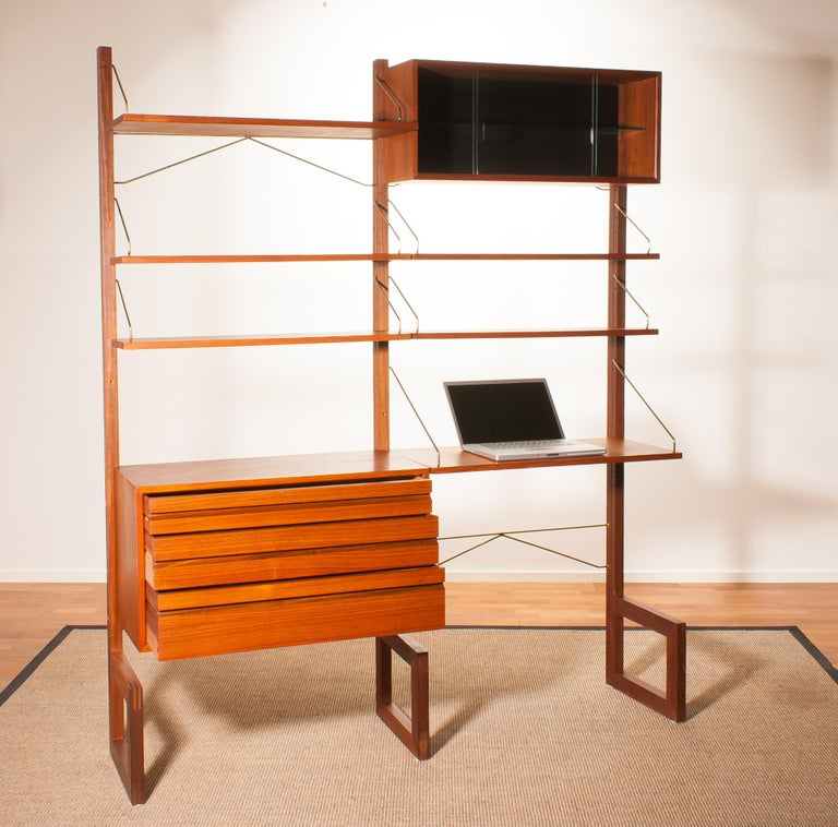 Teak Wall System Unit by Poul Cadovius for Cado, Denmark, 1960s In Good Condition For Sale In Silvolde, Gelderland