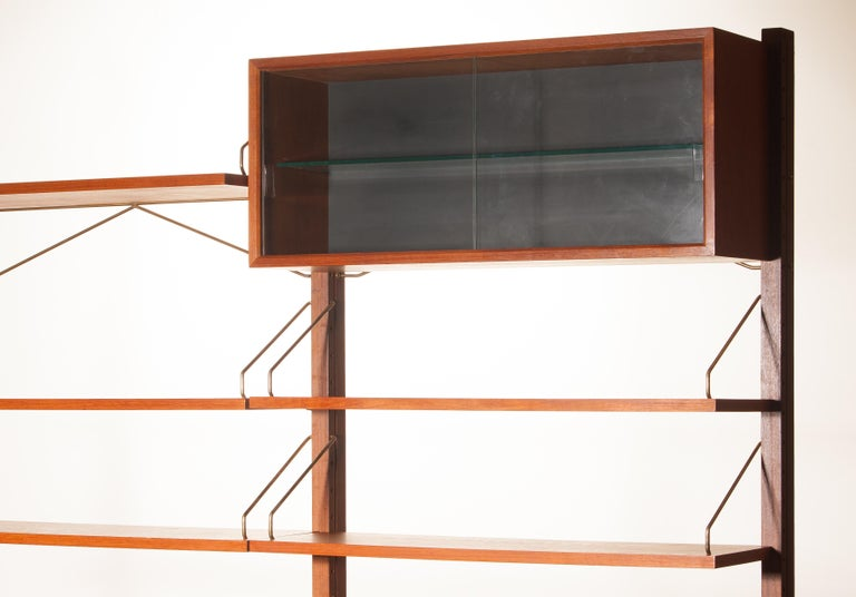 Teak Wall System Unit by Poul Cadovius for Cado, Denmark, 1960s For Sale 2