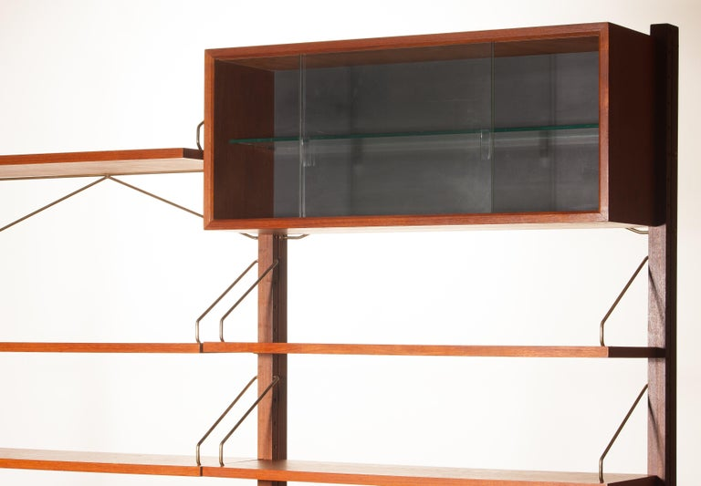 Teak Wall System Unit by Poul Cadovius for Cado, Denmark, 1960s For Sale 3