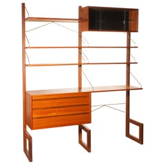 Teak Wall System Unit by Poul Cadovius for Cado, Denmark, 1960s