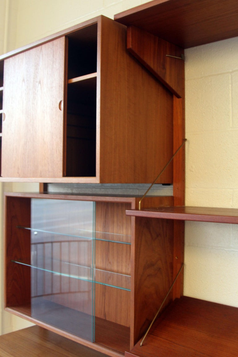 Teak Wall System Unit by Poul Cadovius for Cado For Sale 6