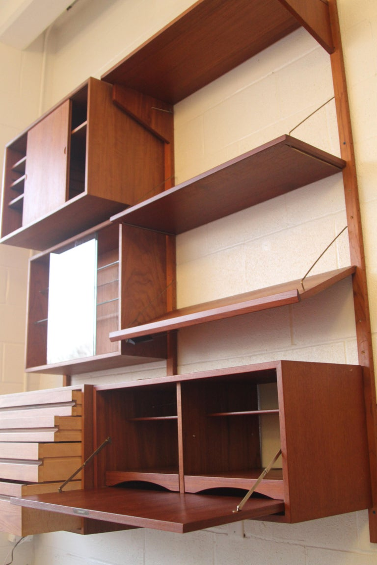 Teak Wall System Unit by Poul Cadovius for Cado For Sale 8
