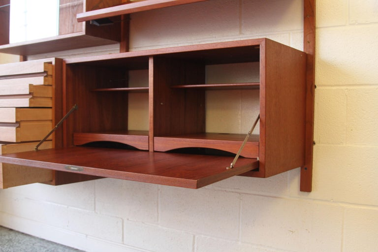 Teak Wall System Unit by Poul Cadovius for Cado For Sale 9