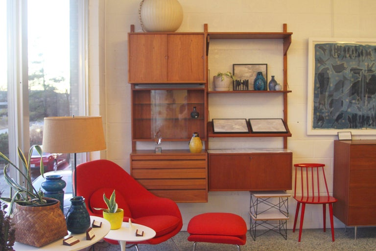 Teak Wall System Unit by Poul Cadovius for Cado For Sale 12