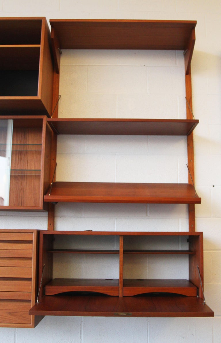 20th Century Teak Wall System Unit by Poul Cadovius for Cado For Sale