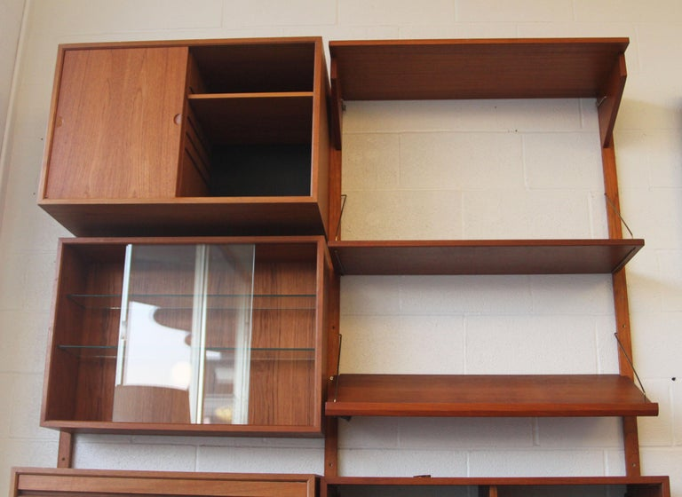 Teak Wall System Unit by Poul Cadovius for Cado For Sale 1