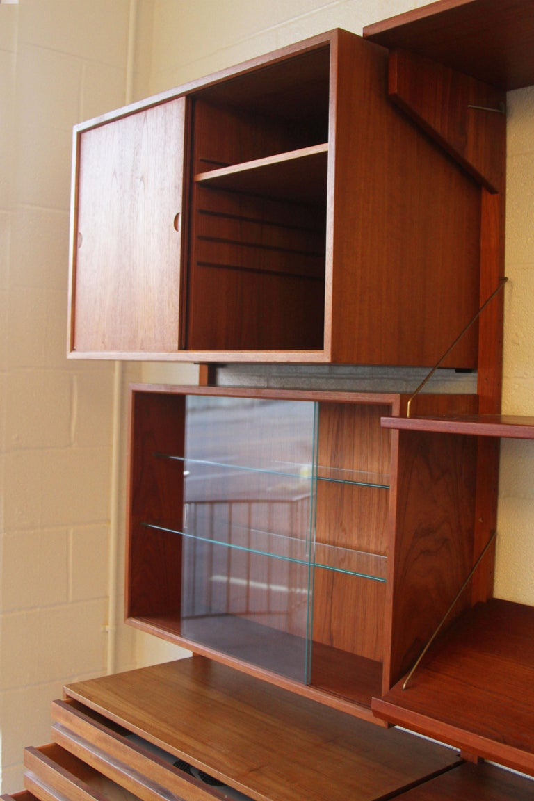 Teak Wall System Unit by Poul Cadovius for Cado For Sale 2