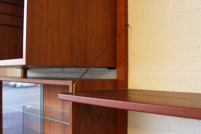 Teak Wall System Unit by Poul Cadovius for Cado For Sale 3