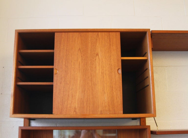Teak Wall System Unit by Poul Cadovius for Cado For Sale 4