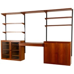 Teak Wall Unit by Kai Kristiansen for FM, 1960s