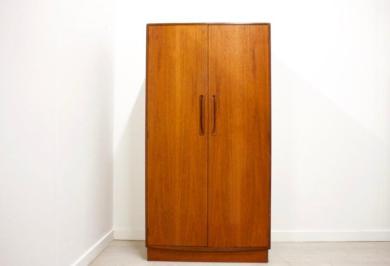 Mid-Century Modern Teak Wardrobe by VB Wilkins from G Plan, 1960s For Sale