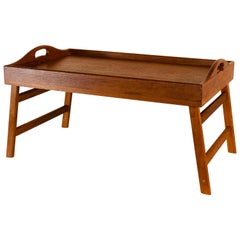 Teak Wood Folding Breakfast Serving Tray