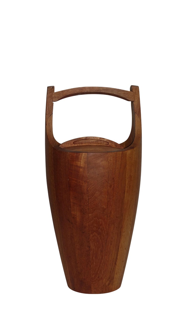 Teak Wood Ice Bucket by Jens Quistaard, Mid-Century Danish Modern For Sale 1