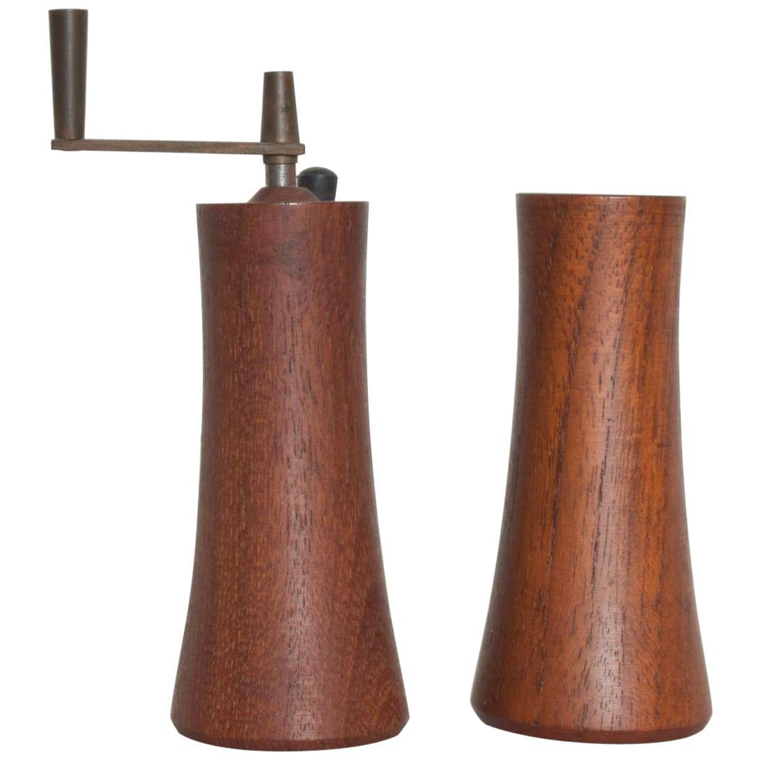 Teak Wood Salt Shaker Pepper Mill by Laurids Lonborg of Denmark