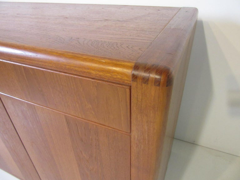 Teak Wood Server / Chest / Credenza in the Danish Style by D- Scan For Sale 4