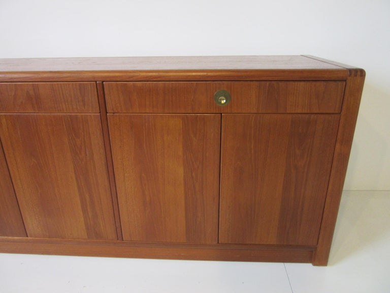 Mid-Century Modern Teak Wood Server / Chest / Credenza in the Danish Style by D- Scan For Sale