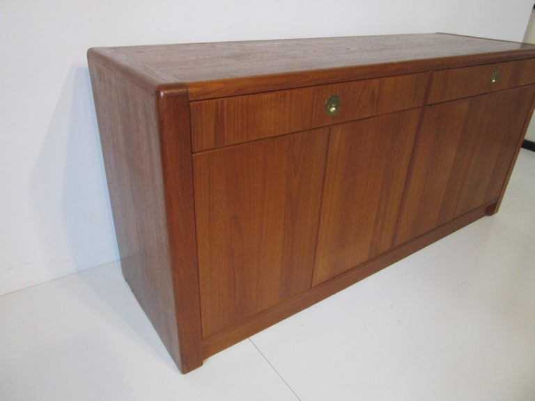Singaporean Teak Wood Server / Chest / Credenza in the Danish Style by D- Scan For Sale