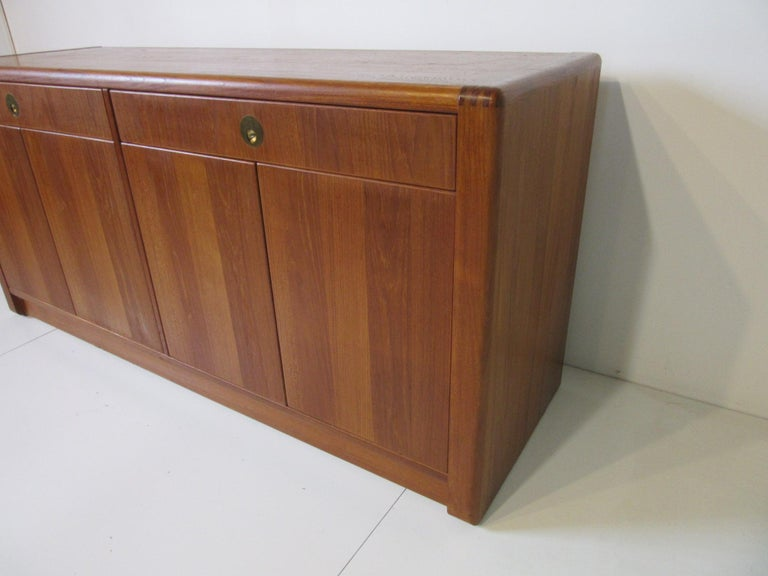 Teak Wood Server / Chest / Credenza in the Danish Style by D- Scan In Good Condition For Sale In Cincinnati, OH