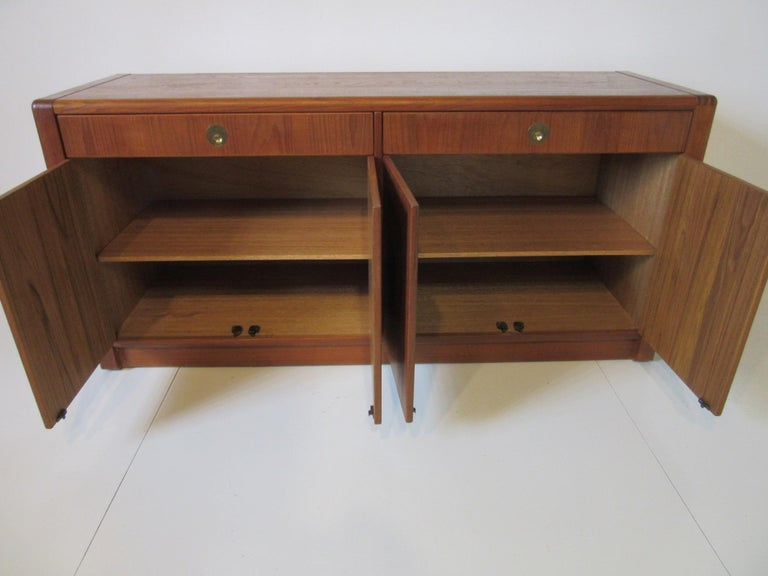 20th Century Teak Wood Server / Chest / Credenza in the Danish Style by D- Scan For Sale