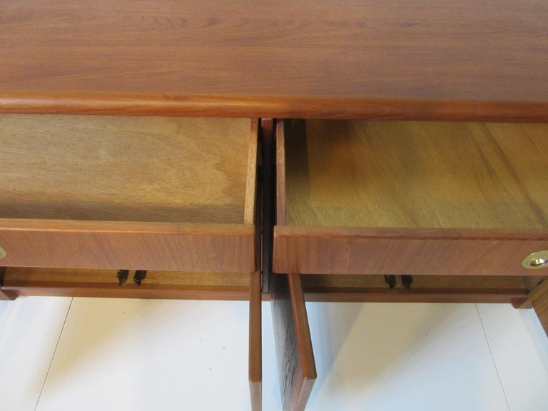 Teak Wood Server / Chest / Credenza in the Danish Style by D- Scan For Sale 1