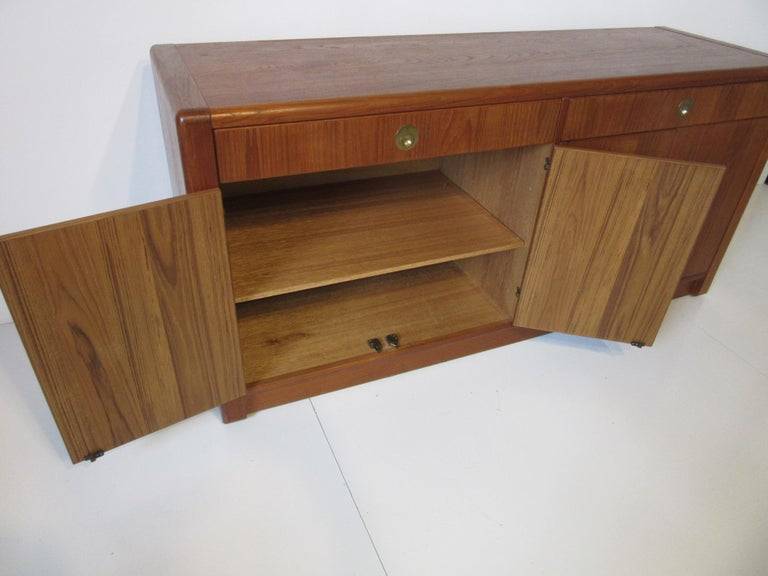 Teak Wood Server / Chest / Credenza in the Danish Style by D- Scan For Sale 2