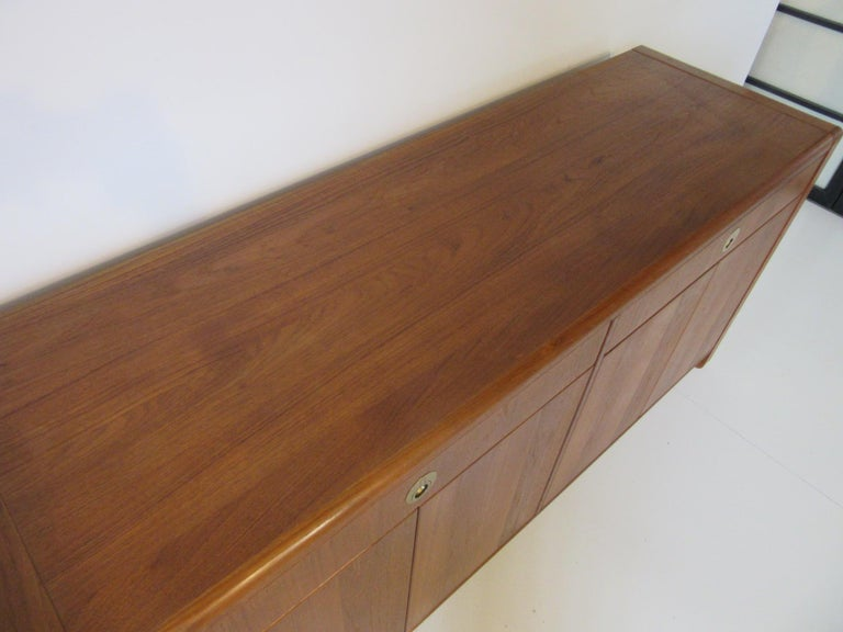 Teak Wood Server / Chest / Credenza in the Danish Style by D- Scan For Sale 3