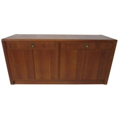 Teak Wood Server / Chest / Credenza in the Danish Style by D- Scan